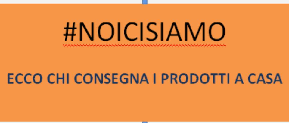 #NOICISIAMO    ECCO CHI CONSEGNA I PRODOTTI A CASA